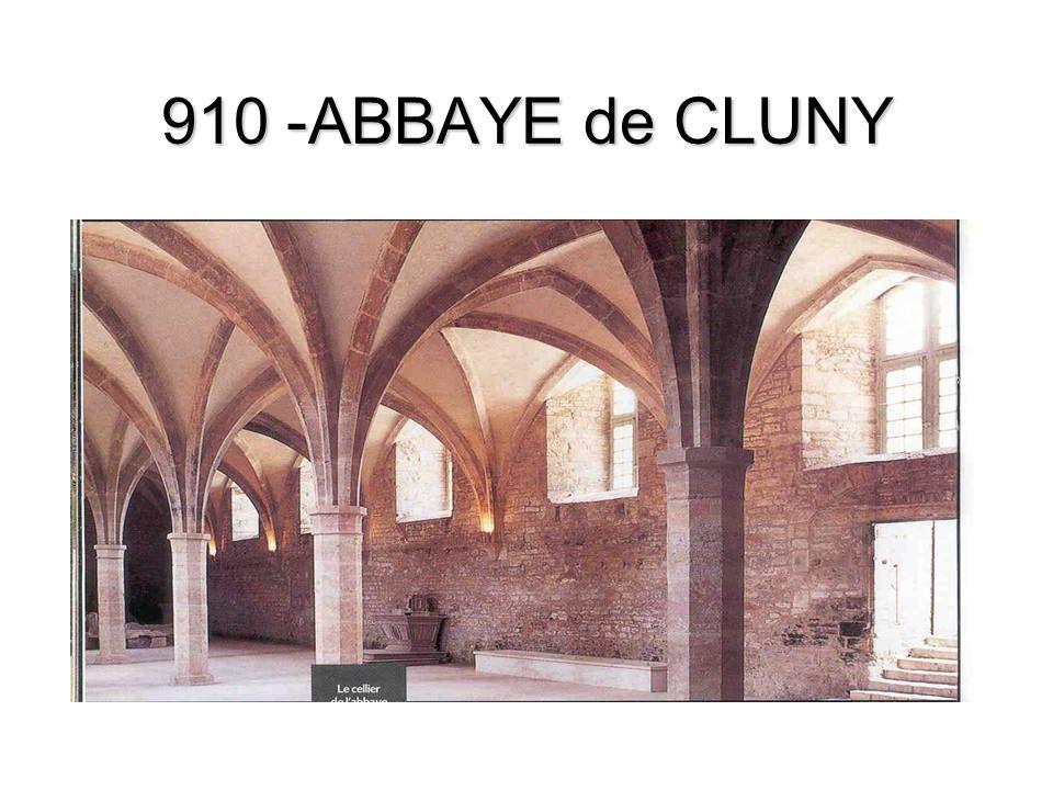 910 -ABBAYE de CLUNY