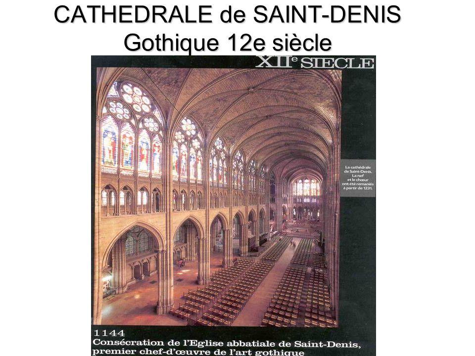 CATHEDRALE de SAINT-DENIS Gothique 12e siècle