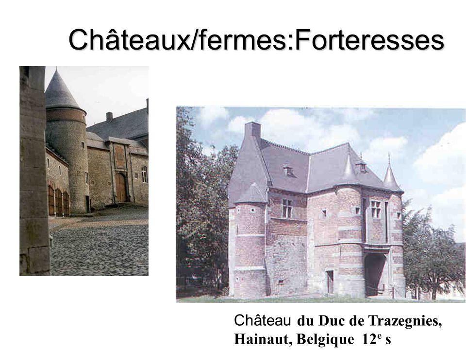 Châteaux/fermes:Forteresses Château du Duc de Trazegnies, Hainaut, Belgique 12 e s
