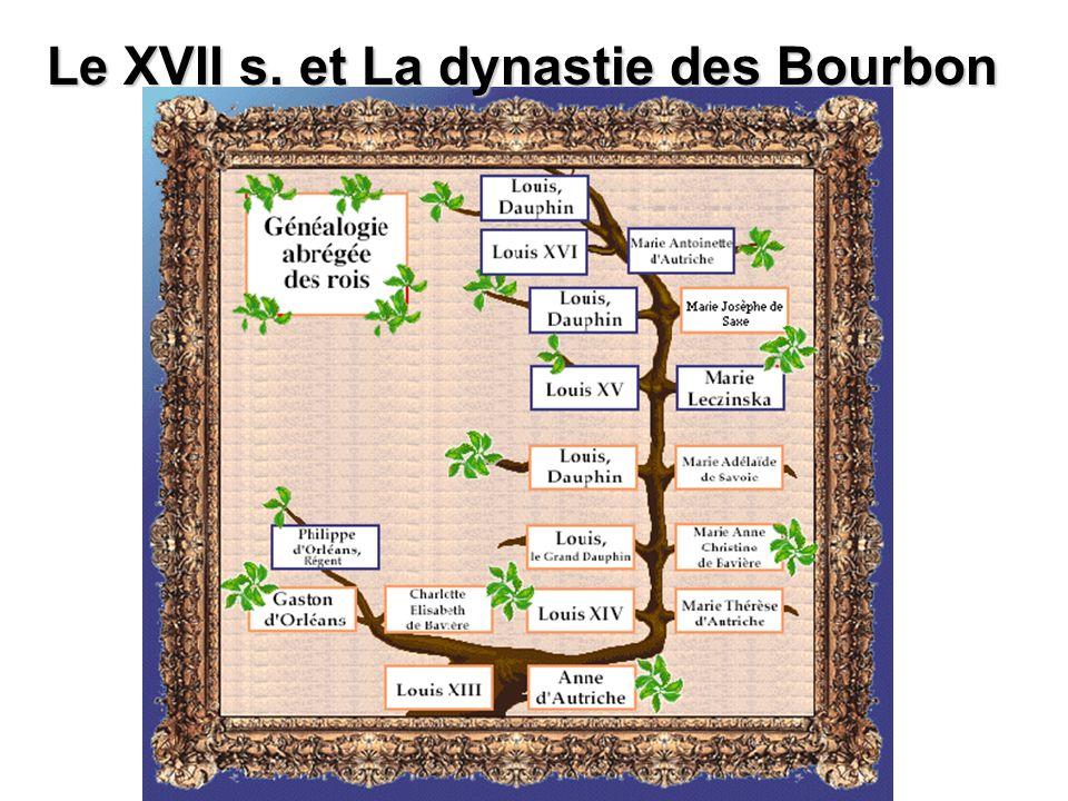 Le XVII s. et La dynastie des Bourbon