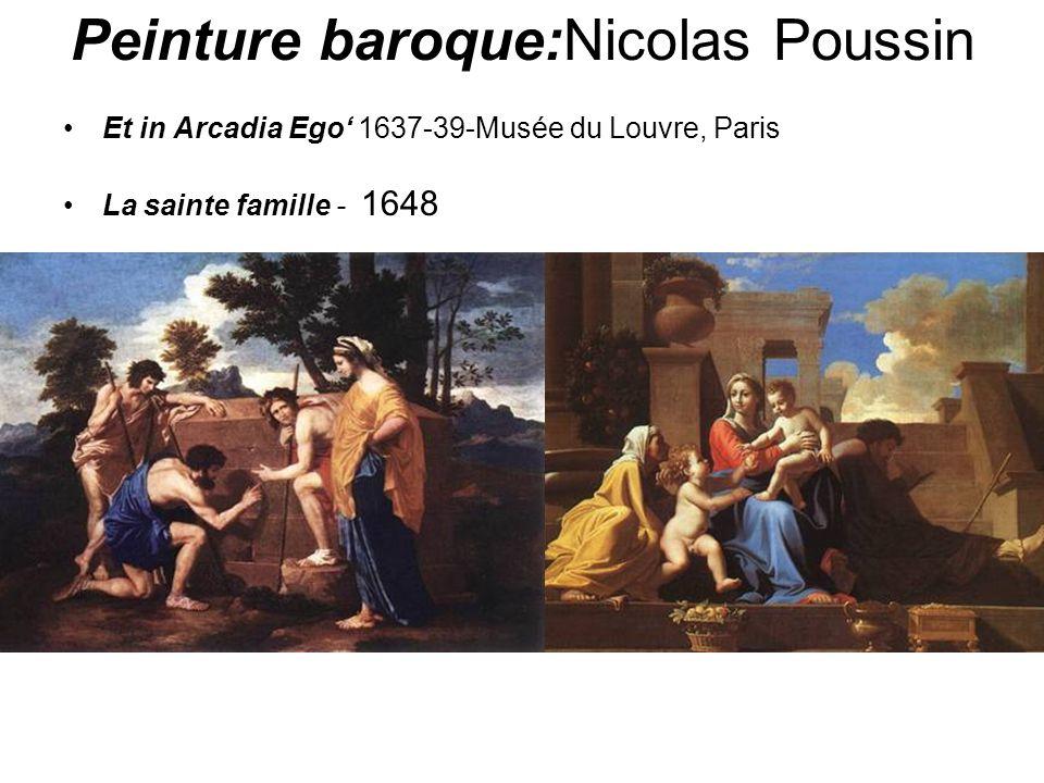 Peinture baroque:Nicolas Poussin Et in Arcadia Ego 1637-39-Musée du Louvre, Paris La sainte famille - 1648