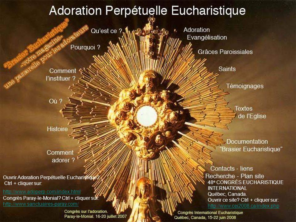 « Saint, saint, saint le Seigneur Dieu de lunivers.