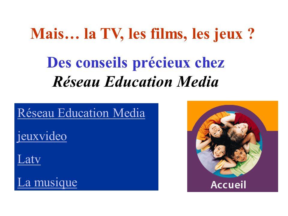 Réseau Education Media jeuxvideo Latv La musique Mais… la TV, les films, les jeux ? Des conseils précieux chez Réseau Education Media