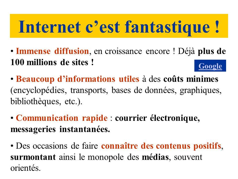 Un réseau ouvert et libre, sans sélection de contenus, sauf quelques contenus à caractères gravement délictueux (terrorisme, pédophilie, fraudes CB, etc.).