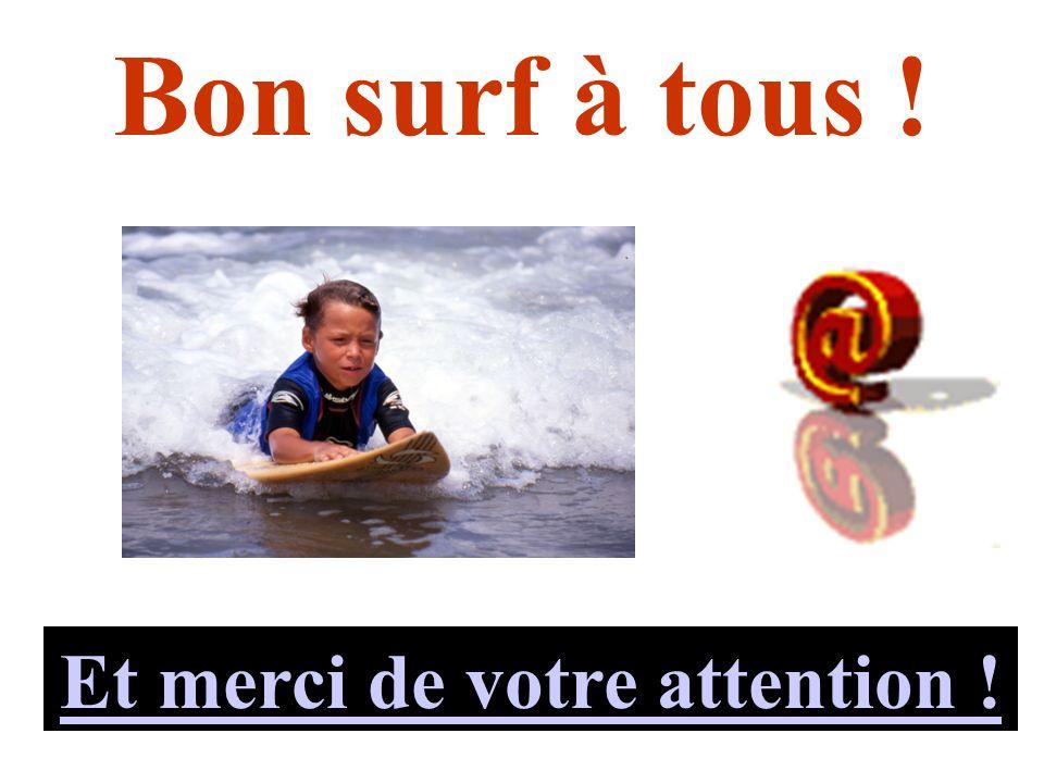 Bon surf à tous ! Et merci de votre attention !