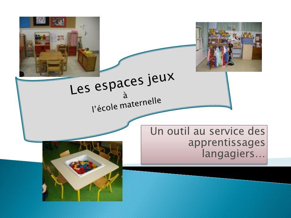 Un outil au service des apprentissages langagiers… Les espaces jeux à lécole maternelle