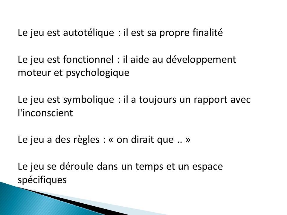 Apports de la psychanalyse La psychanalyse insiste sur la fonction cathartique du jeu.