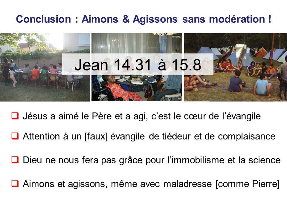 Conclusion : Aimons & Agissons sans modération .