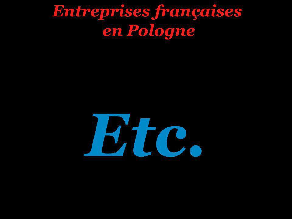 Etc. Entreprises françaises en Pologne