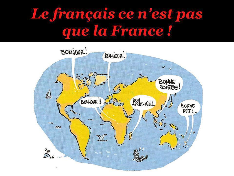 Le français ce nest pas que la France !