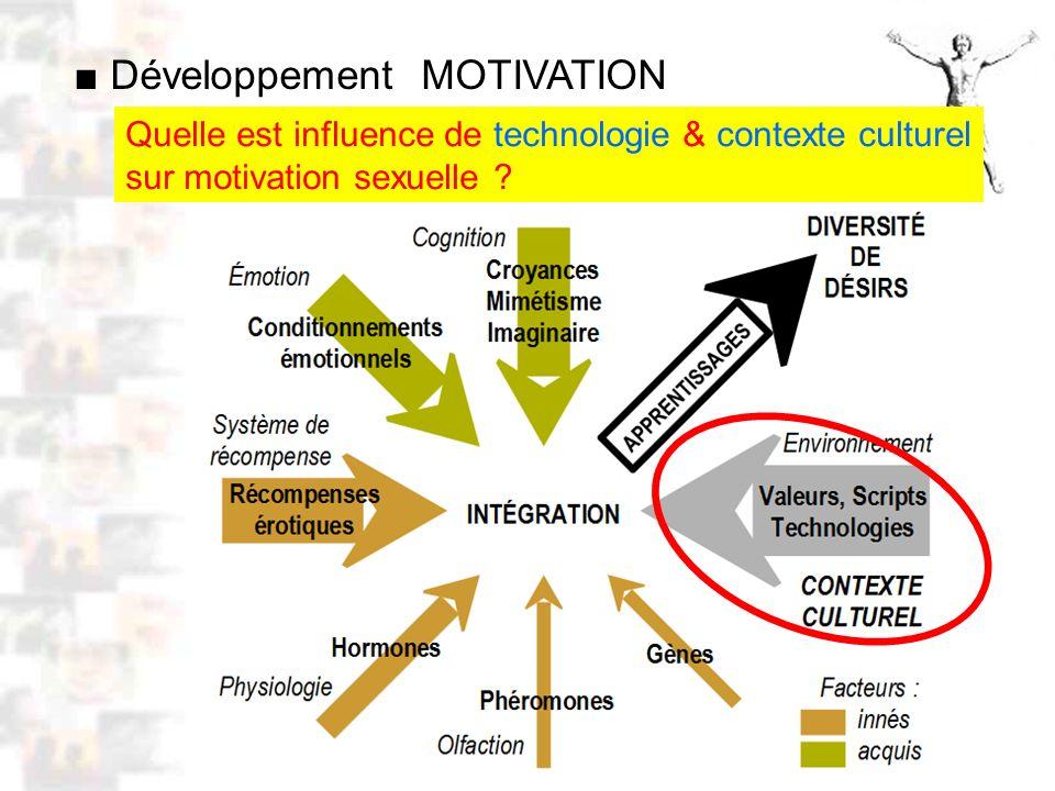 D52 : Modèles : Homme 10 : Renforcement 2 Quelle est influence de technologie & contexte culturel sur motivation sexuelle .