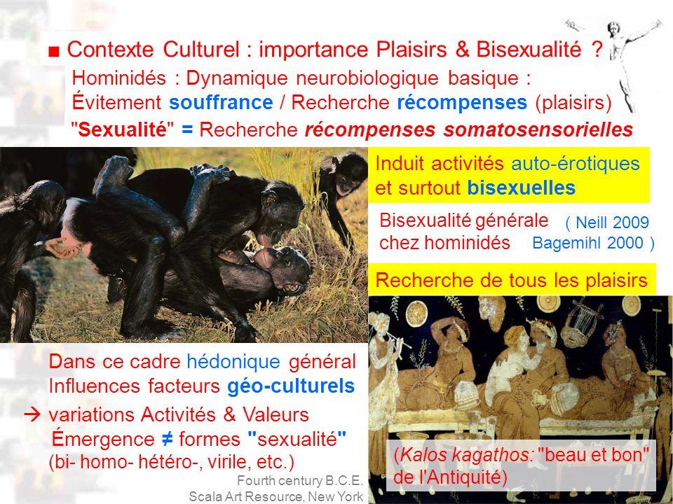 D68 : Modèles : Homme 20 : Développement & Dynamique 6 Recherche de tous les plaisirs Bisexualité générale chez hominidés variations Activités & Valeurs Émergence formes sexualité (bi- homo- hétéro-, virile, etc.) Dans ce cadre hédonique général Influences facteurs géo-culturels Contexte Culturel : importance Plaisirs & Bisexualité .