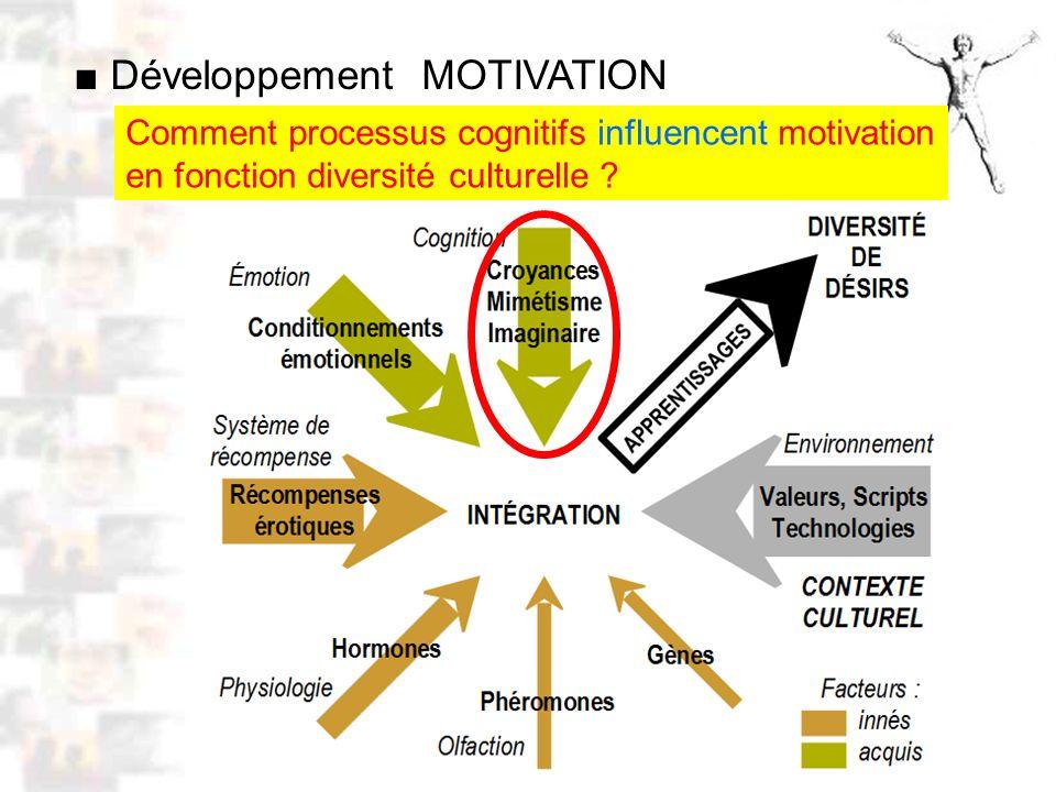 D52 : Modèles : Homme 10 : Renforcement 2 Comment processus cognitifs influencent motivation en fonction diversité culturelle .