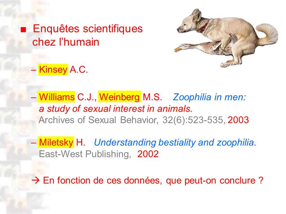 D2 : Introduction 2 : Généralité Enquêtes scientifiques chez lhumain – Miletsky H.