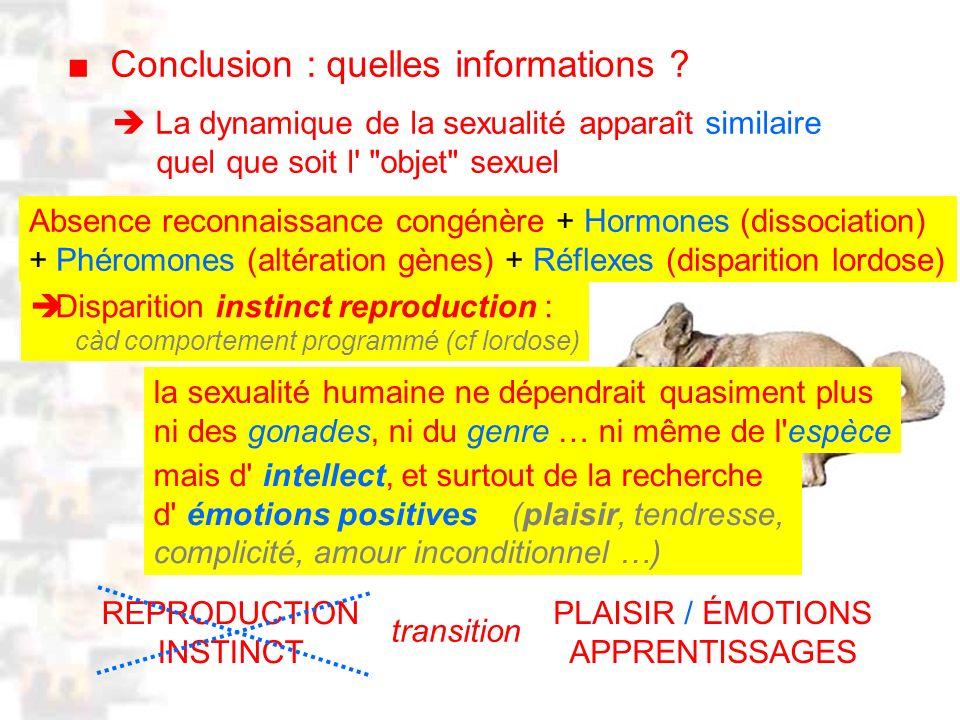 D2 : Introduction 2 : Généralité Conclusion : quelles informations .