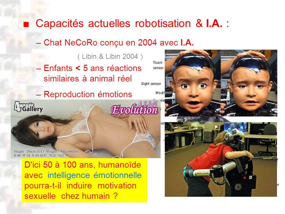 D10 : Psychobiologie : Physiologie 1 Capacités actuelles robotisation & I.A.