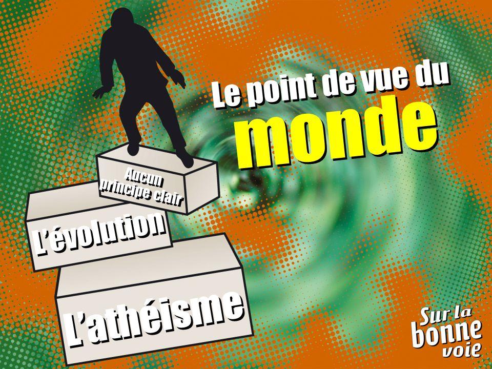Le point de vue du monde Le point de vue du monde Lathéisme Lévolution Aucun principe clair