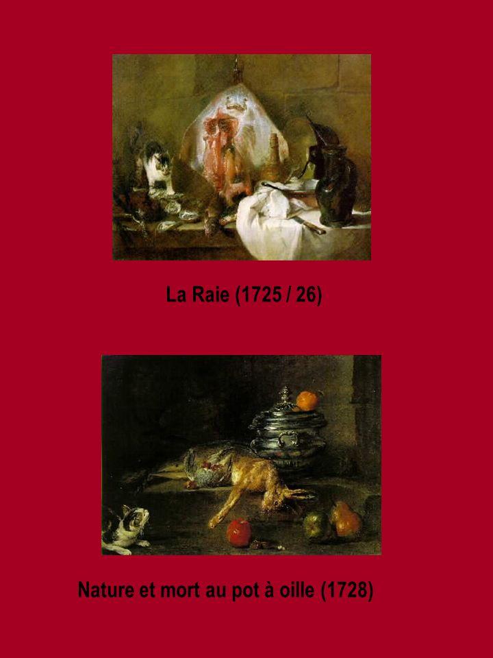 La Raie (1725 / 26) Nature et mort au pot à oille (1728)