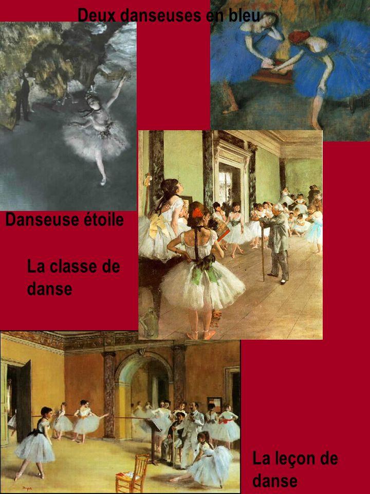 Danseuse étoile Deux danseuses en bleu La classe de danse La leçon de danse