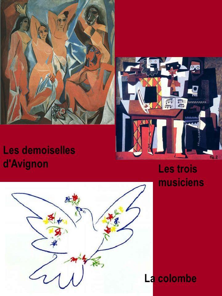 Les demoiselles d Avignon La colombe Les trois musiciens