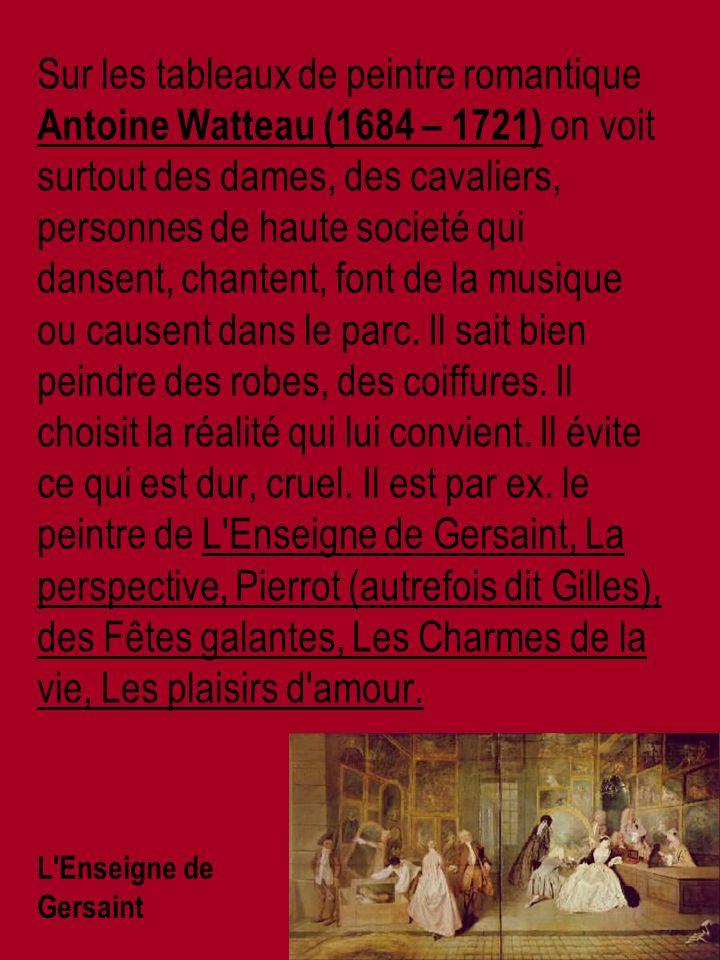 Edgar Germain Hilaire Degas (1834 – 1917) – ses thèmes favoris sont des scènes familières, des scènes de rue, du monde des courses hippiques et du spectacle, en particulier du monde de la danse.