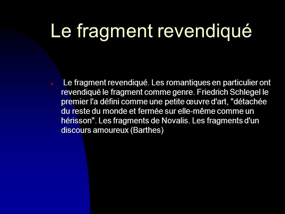 Le fragment revendiqué n Le fragment revendiqué.