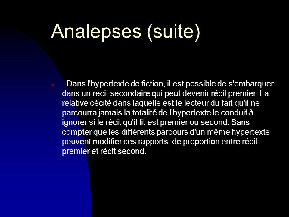 Analepses (suite) n.