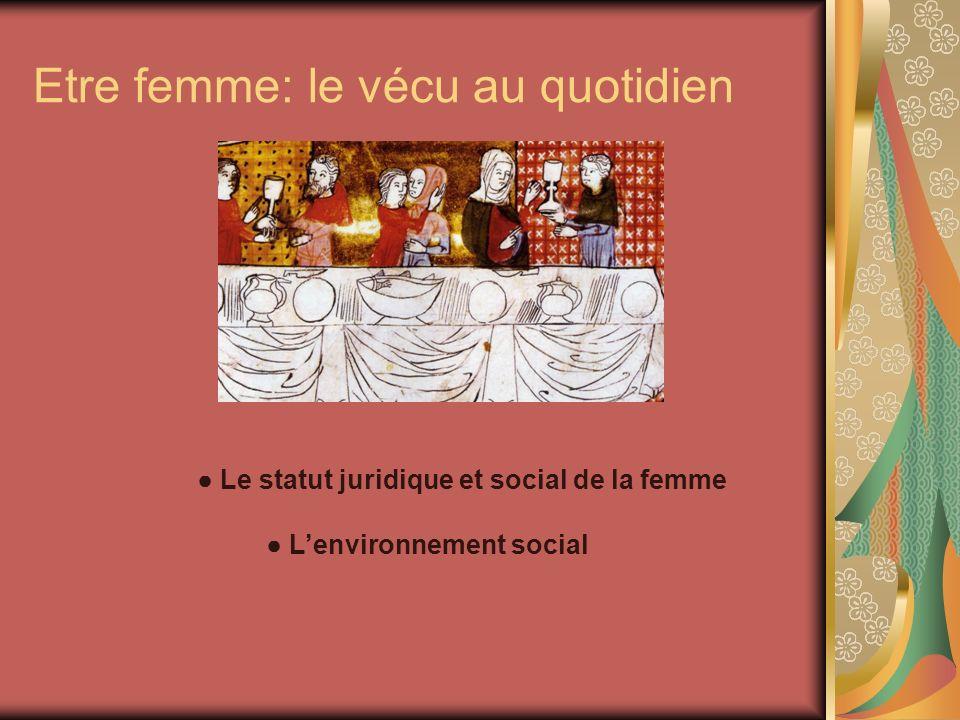 Etre femme: le vécu au quotidien Le statut juridique et social de la femme Lenvironnement social