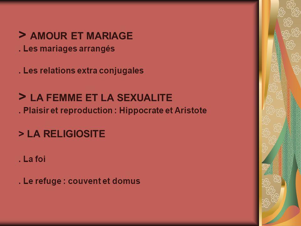 > AMOUR ET MARIAGE. Les mariages arrangés.