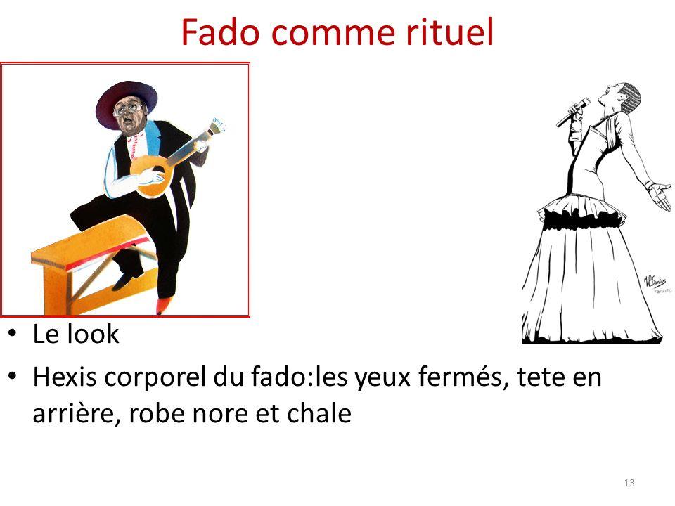 Fado comme rituel Le look Hexis corporel du fado:les yeux fermés, tete en arrière, robe nore et chale 13