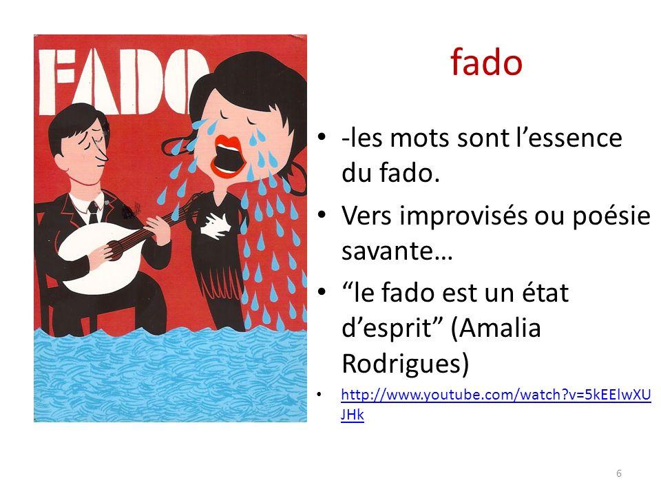 fado -les mots sont lessence du fado.