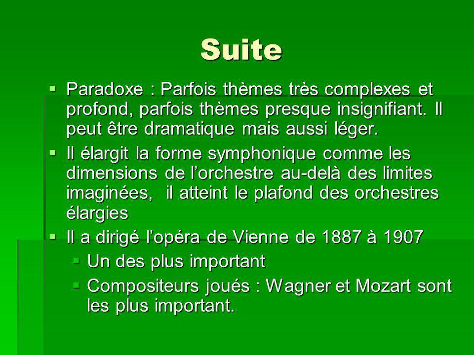 Suite Paradoxe : Parfois thèmes très complexes et profond, parfois thèmes presque insignifiant.