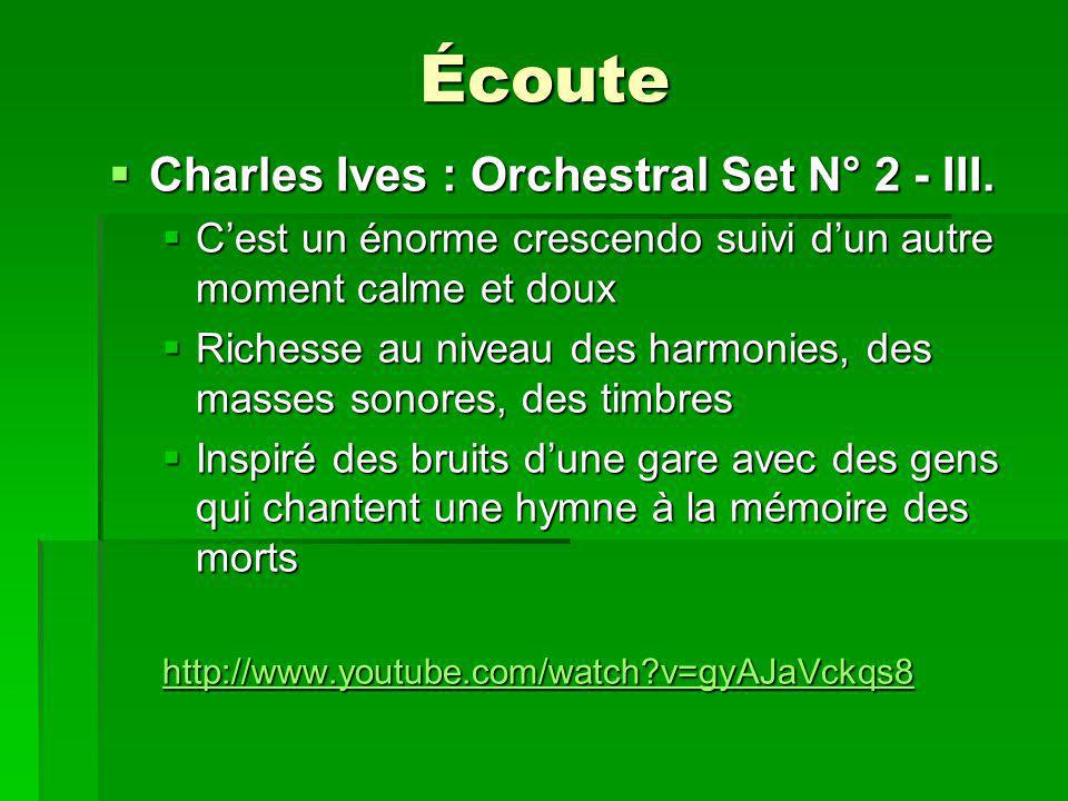 Écoute Charles Ives : Orchestral Set N° 2 - III. Charles Ives : Orchestral Set N° 2 - III.