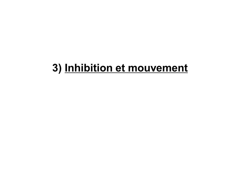 3) Inhibition et mouvement