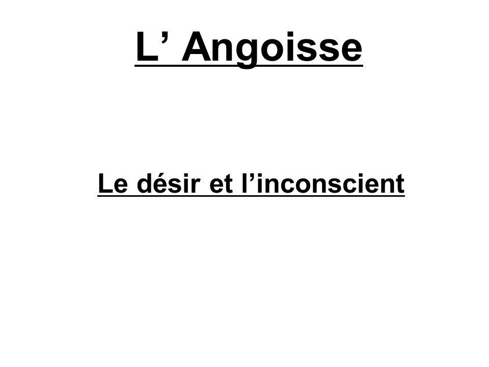 L Angoisse Le désir et linconscient