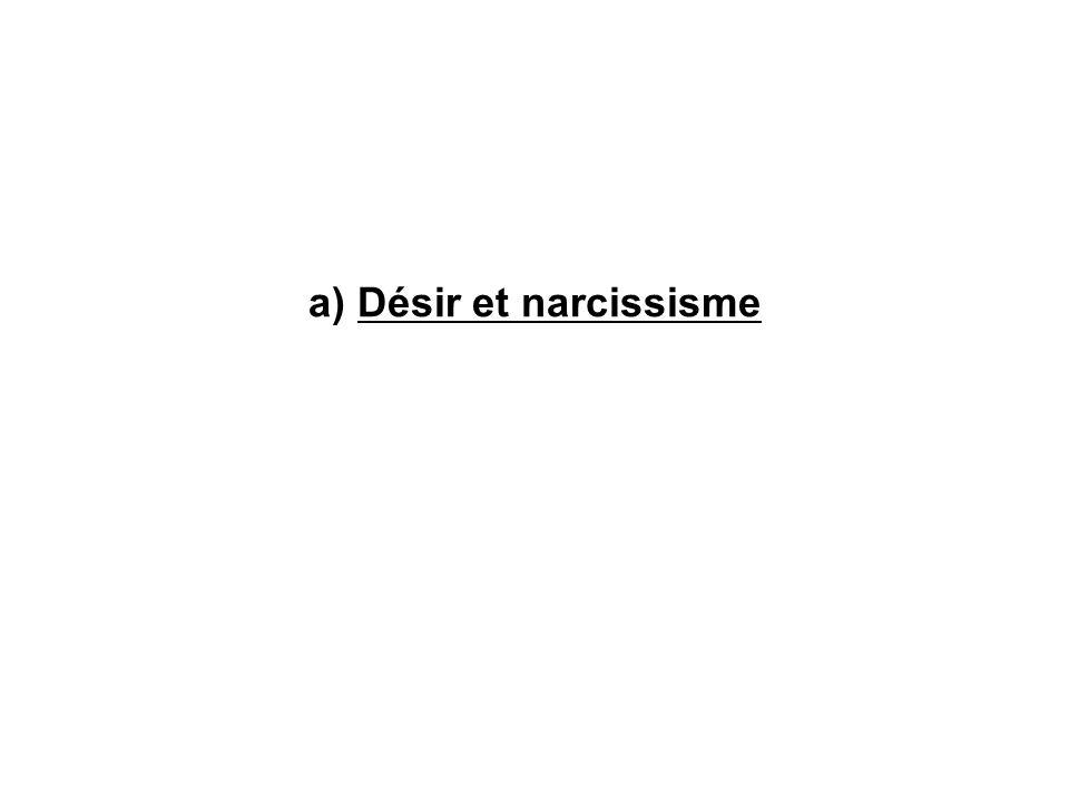 a) Désir et narcissisme