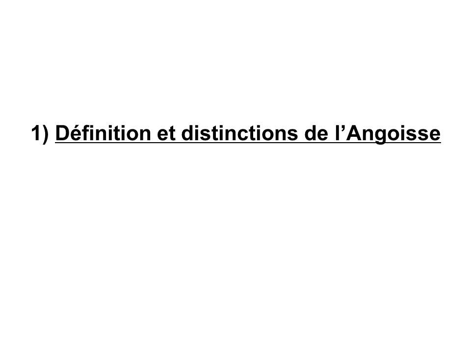 1) Définition et distinctions de lAngoisse