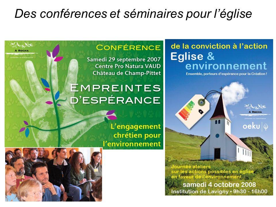 Des conférences et séminaires pour léglise