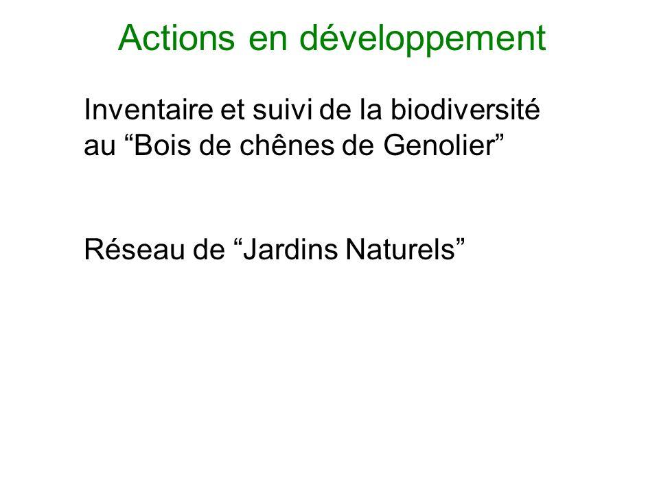 Inventaire et suivi de la biodiversité au Bois de chênes de Genolier Réseau de Jardins Naturels Actions en développement