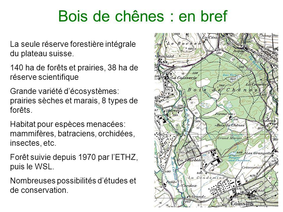 Bois de chênes : en bref La seule réserve forestière intégrale du plateau suisse.