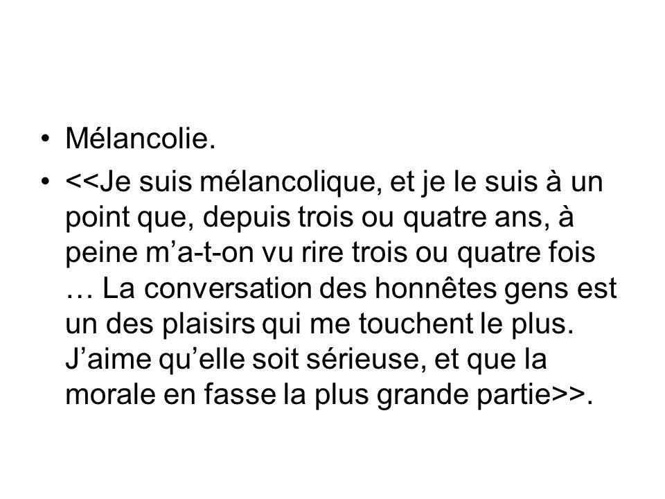 Mélancolie. >.