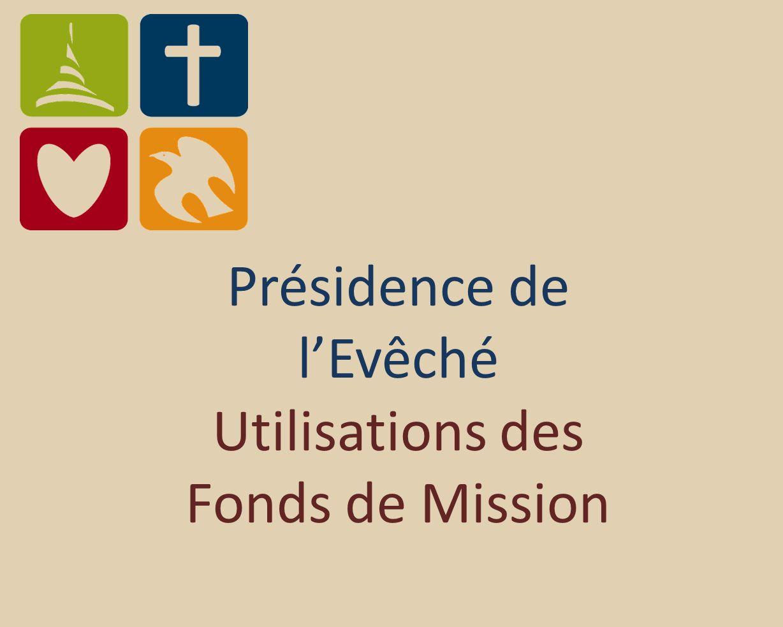 Présidence de lEvêché Utilisations des Fonds de Mission