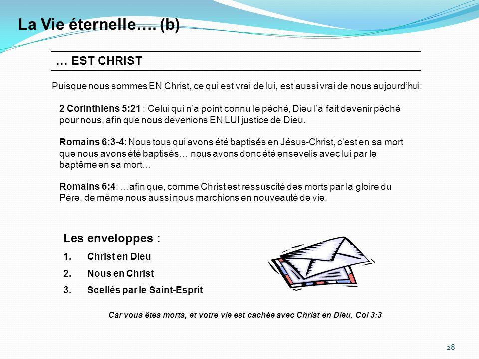 28 La Vie éternelle….