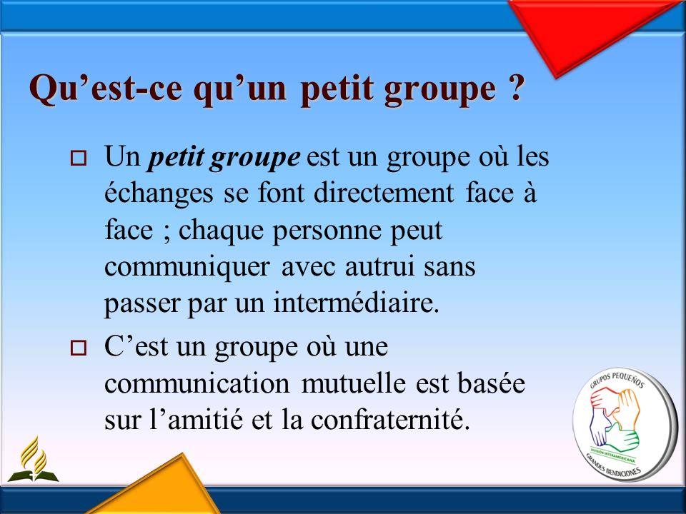 La r é union du petit groupe La réunion hebdomadaire des PG est le meilleur moyen dont dispose lÉglise, où elle peut faire de chacun de ses membres des disciples.