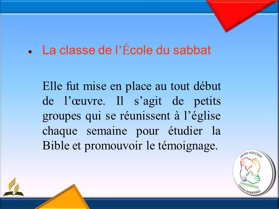 La classe de l É cole du sabbat Elle fut mise en place au tout début de lœuvre.