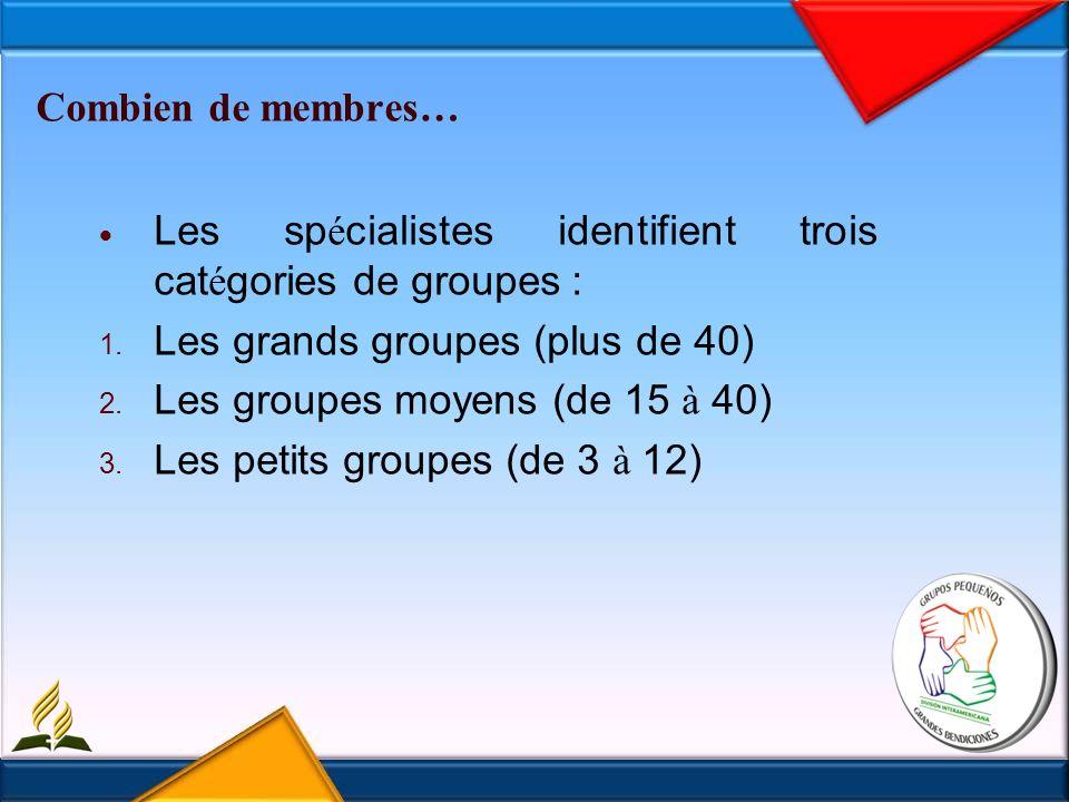 Les buts du petit groupe Constituer, chaque semestre, au niveau de base un petit groupe.