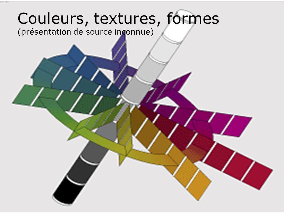 Couleurs, textures, formes (présentation de source inconnue)