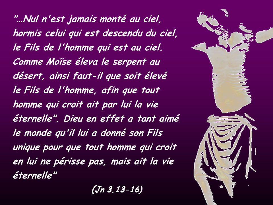 …Nul n est jamais monté au ciel, hormis celui qui est descendu du ciel, le Fils de l homme qui est au ciel.