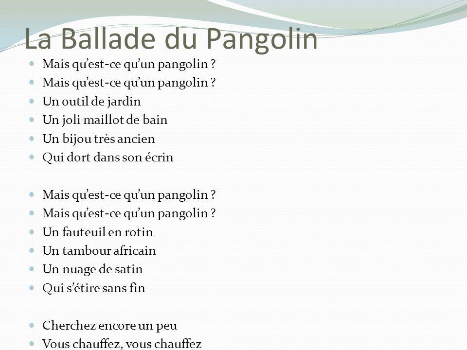 La Ballade du Pangolin Mais quest-ce quun pangolin .