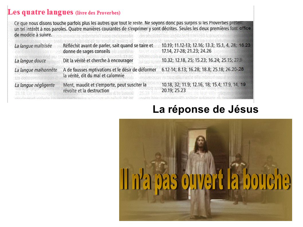 La réponse de Jésus